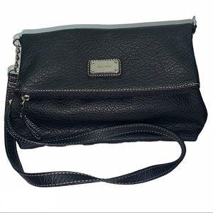 NWOT Nine West Black Fold Over Tote Handbag